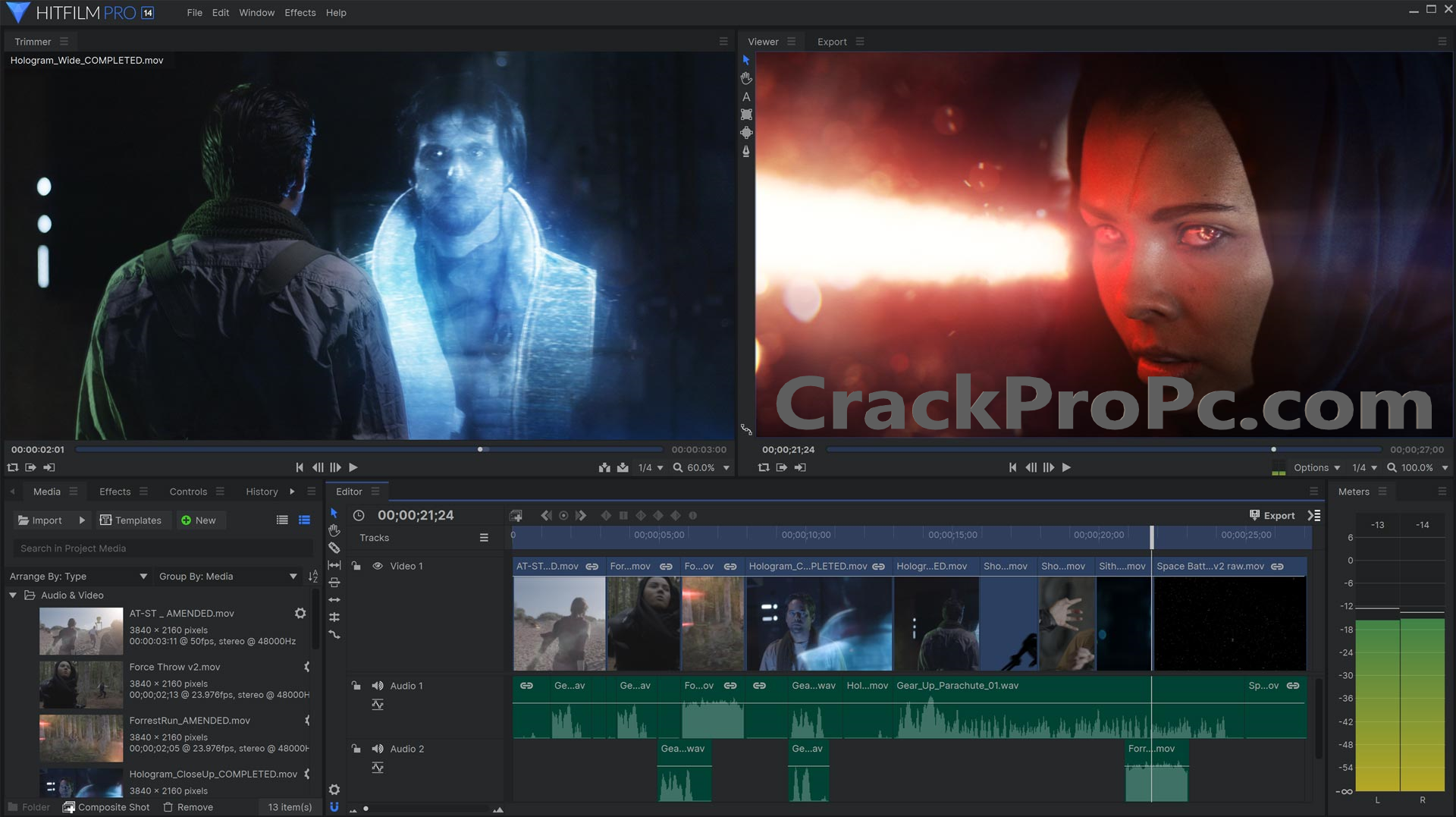 HitFilm Pro 14.2.9727 Crack With Serial Key Full Version Free Download