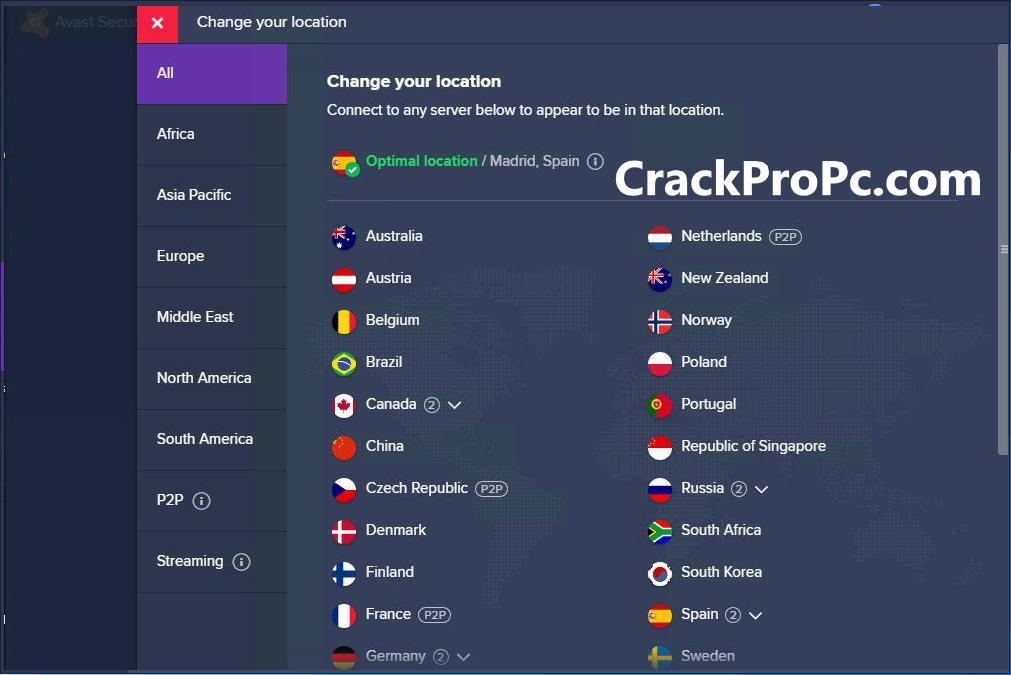 Avast Secureline VPN 5.5.522 Crack License Key till 2021 Free Download