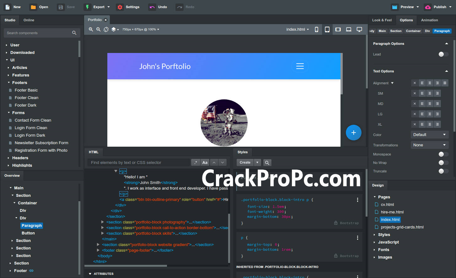Bootstrap Studio Professional v5.0.3 Crack License Key Full Version [2020]