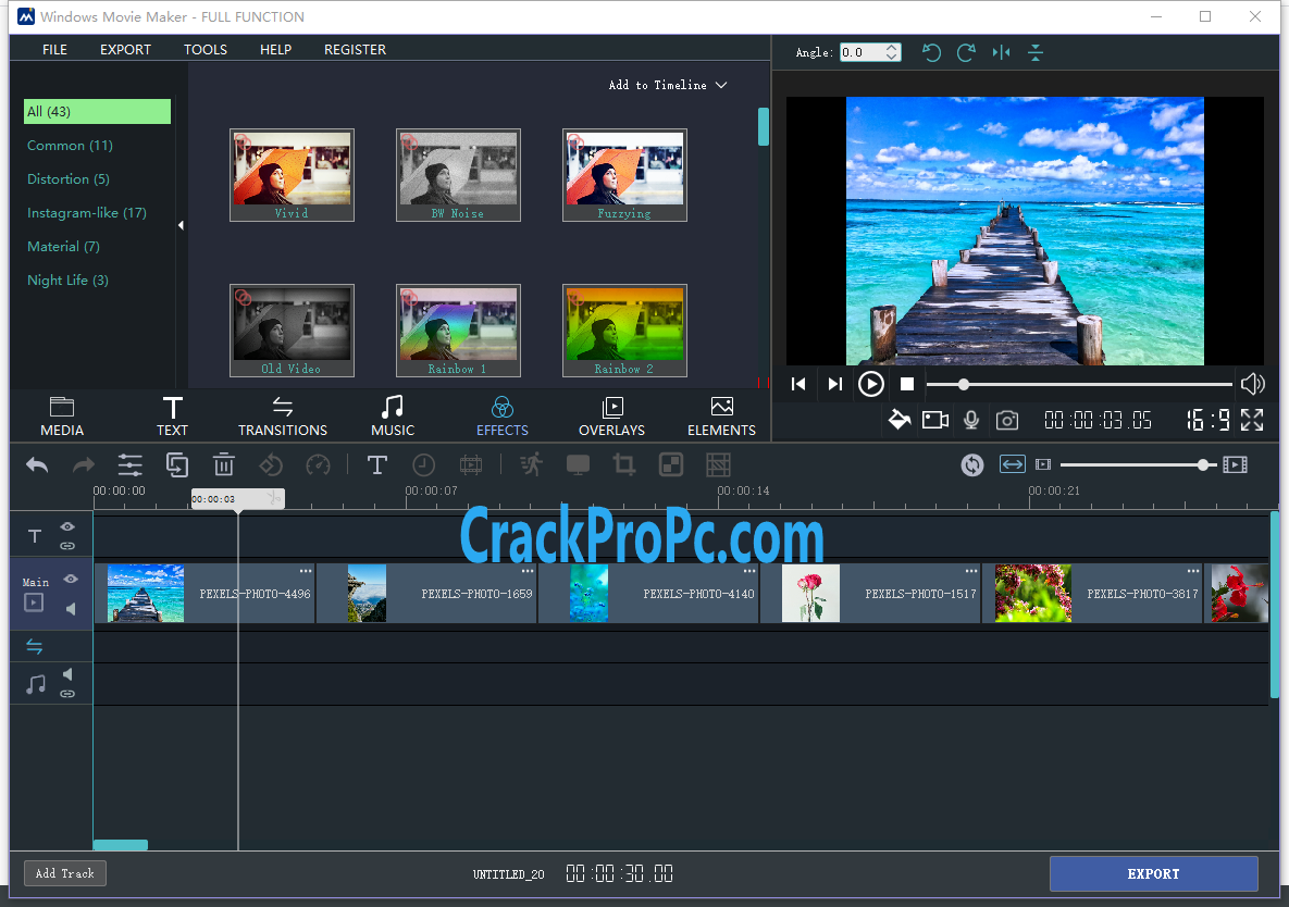 Windows Movie Maker 2020 Crack Registration Key Free Download