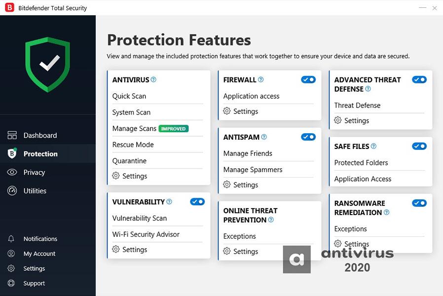 Bitdefender Total Security 2021 Crack V25.0.10.52 Activation Code Full